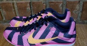 Nike track cleats pink black orange 8.5